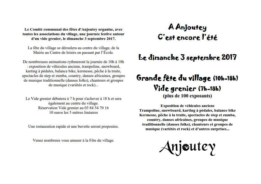 page fete 2017 Fête du village dimanche 3 septembre 2017
